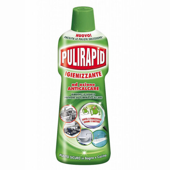 Засіб для видалення вапняного нальоту з дизинфікуючим ефектом Pulirapid Anticalcare Igienizzante 500 мл