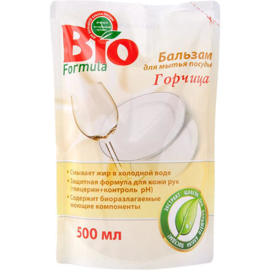 Бальзам для миття посуду Biof Гірчиця дой-пак 500 мл