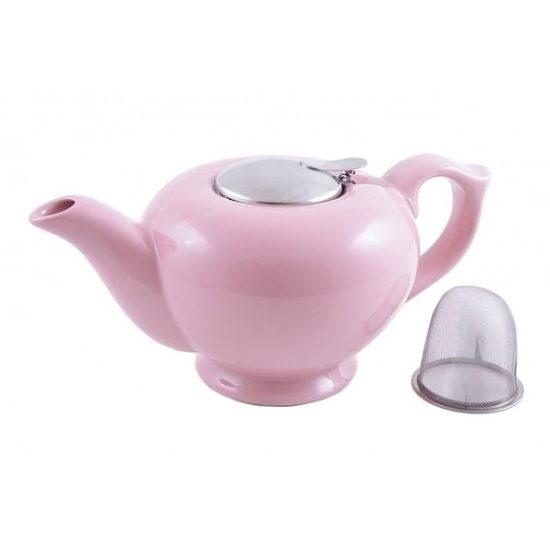 Чайник FISSMAN заварювальний керамічний 1200 мл (рожевий колір)