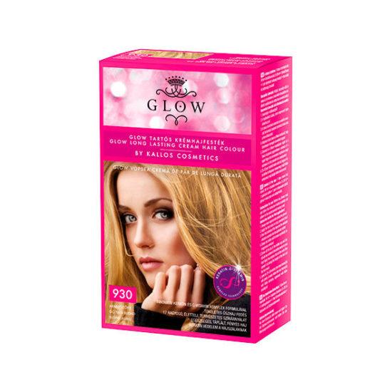 Крем - фарба жіноча KALLOS GLOW LONG LASTING CREAM HAIR 930 Golden Blond 40мл