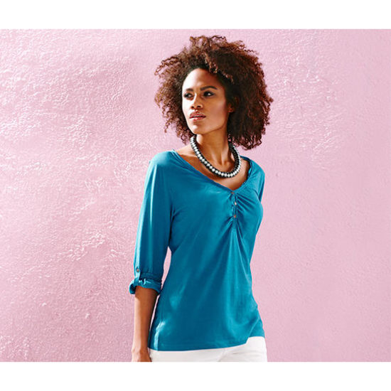 Жіноча літня сорочка з рукавом 3/4 розмір 40/42 TCHIBO 314734