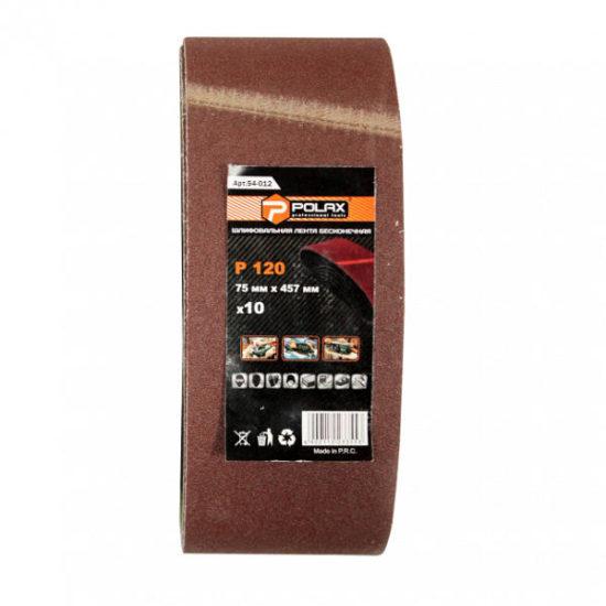 Стрічка шліфувальна безкінцева 75*533мм К60 POLAX 54-016