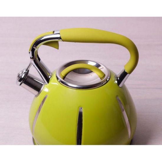 Чайник 3.0л з нержавіючої сталі зі свистком, Kamille 0691A