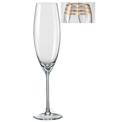 Набір келихів для шампанського 230мл-2шт Bohemia Grandioso M8458