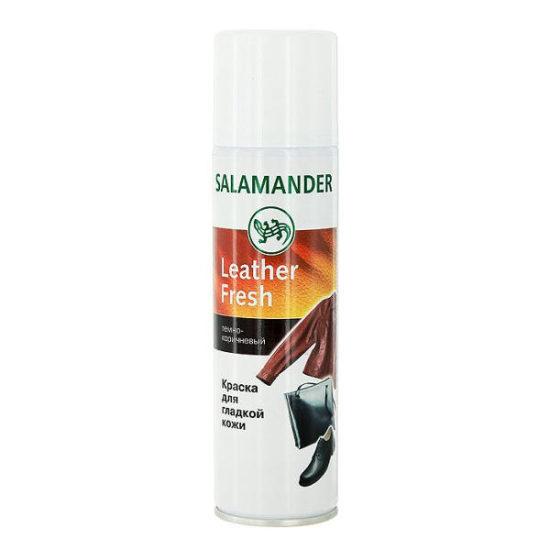"""Аерозоль Salamander """"Leather Fresh"""" для гладкої шкіри колір: темно-коричневий 250мл"""