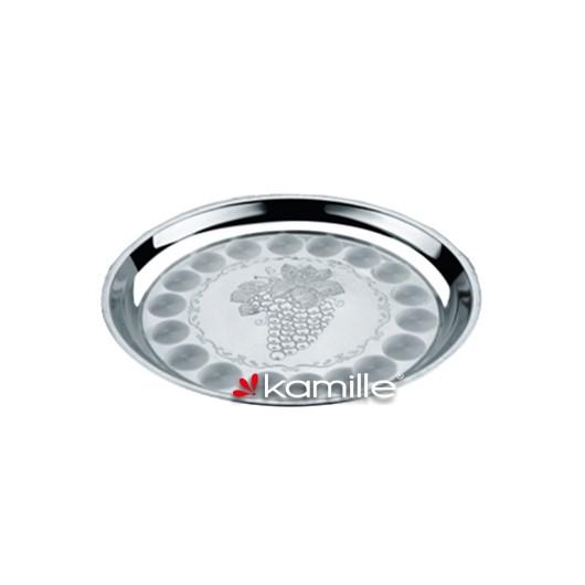 Піднос з нержавіючої сталі 34см Kamille 4300