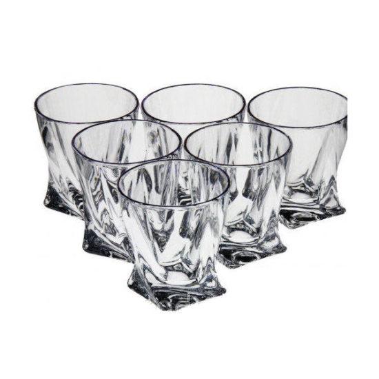Набір склянок Bohemia Quadro 340мл 6штук