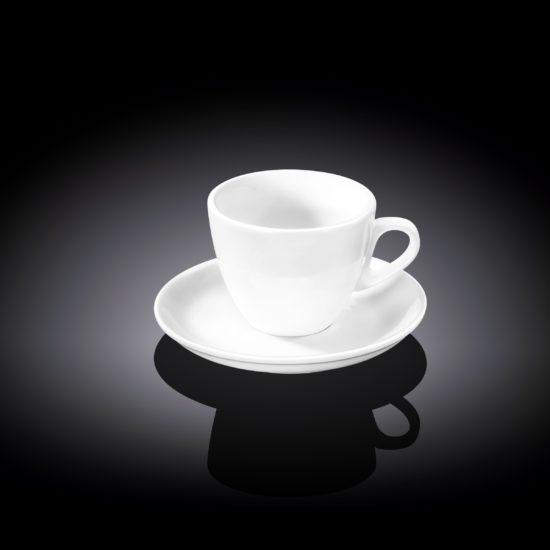 Чашка кавова&блюдце 75мл Wilmax
