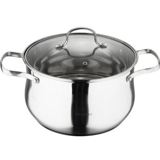 Каструля 14.5л Wellberg Style Pot зі скляною кришкою, WB-1671