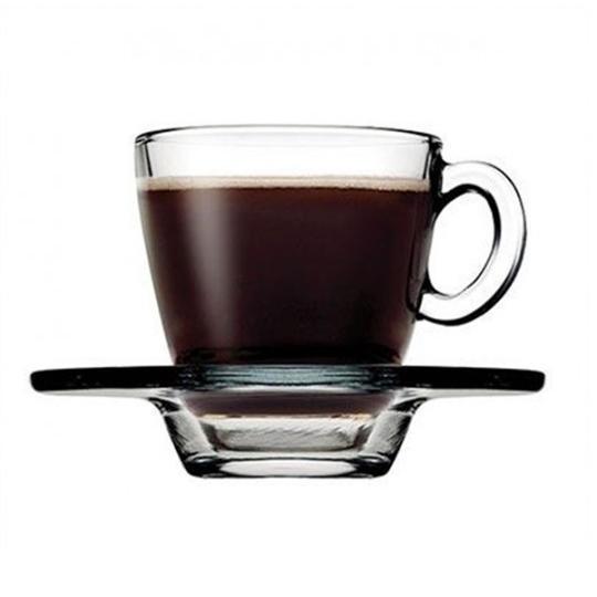 Набір чашок з блюдцем Pasabahce Aqua 70 мл 12 предметів (95756)