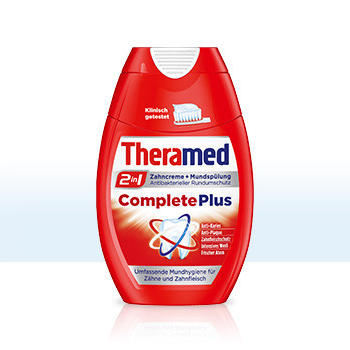 Зубна паста + рідина для полоскання рота Theramed 2in1 Complete Plus, 75 мл